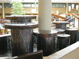 Copper Fountains -  Hilton Lobby Fountain - Huntington, NY