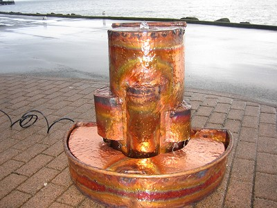 Copper Fountains - Custom Metropolis in the Half Round