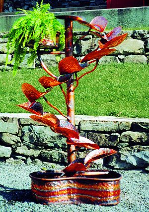 Copper Fountains - Tree of Life with Planter